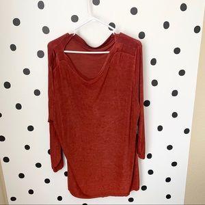 🌈5/$25🌈EUC adorable blouse orange/redish